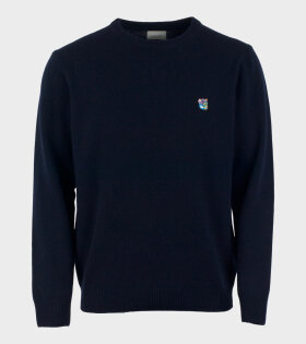 Tonsure Grant Logo Knit Blue - dr. Adams