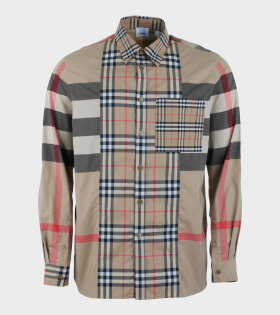 Burberry Tisdale Archive Shirt Beige - dr. Adams