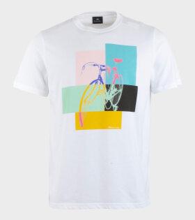 Paul Smith Mens Reg Fit T-shirt Bike White - dr. Adams