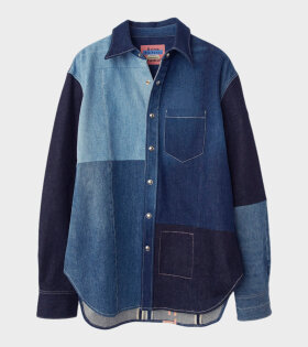 Sergej Recrafted Denim Shirt Blue
