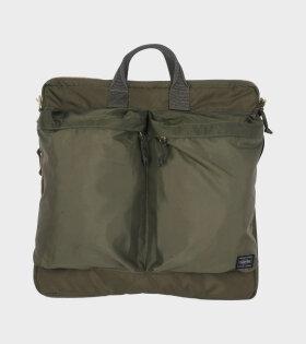 Porter 2Way Helmet Bag Green - dr. Adams