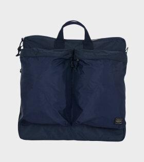 Porter 2Way Helmet Bag Blue - dr. Adams