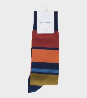 Paul Smith Men's Multicolor Stripe Socks - dr. Adams