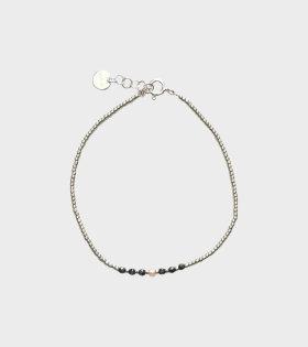 Bead & Gem Bracelet Silver