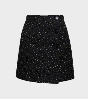 Sheridan Dot Skirt Black/Gold