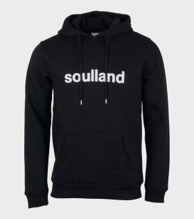Soulland Googie - Hooded Sweat Black - dr. Adams