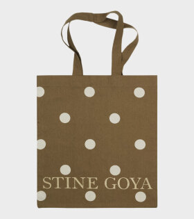 Stine Goya Rita Tote Bag Brown Dots - dr. Adams