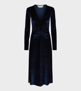 Number 7 Velvet Dress Twilight Blue