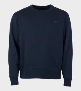 Acne Studios Fairview Face Sweatshirt Navy - dr. Adams