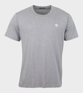 Acne Studios - Nash Face T-shirt Light Grey Melange