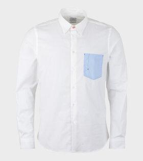 Mens Shirt Tailored Pocket White