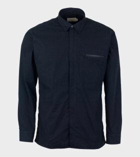 Zipped Shirt Dark Navy