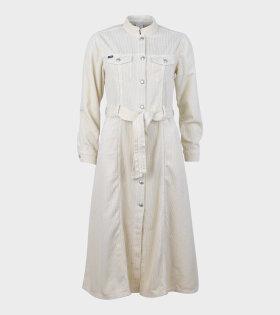 Lauren Velvet Dress Off-White