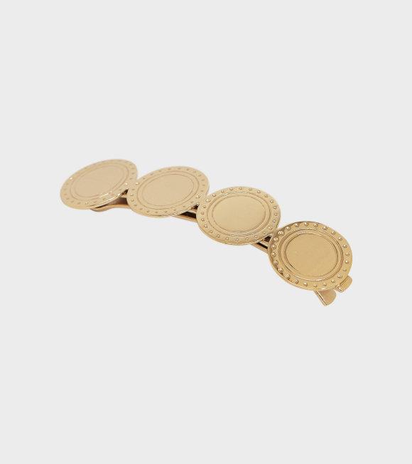 Trine Tuxen - Large Logo Hair Clip Gold