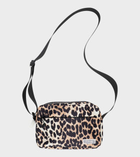 Ganni Tech Fabric Bag Leopard - dr. Adams