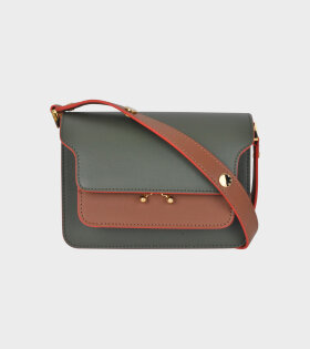 Mini Trunk Bag Green/Brown/Yellow