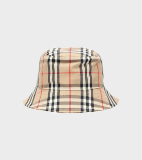 Bucket Hat Checkered Beige