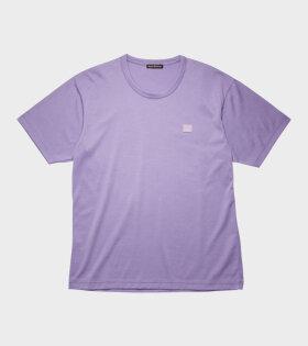 Acne Studios Nace Face T-Shirt Lavende Purple - dr. Adams
