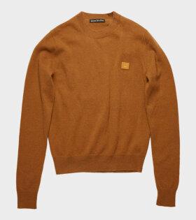 Acne Studios Kalon Face Sweater Brown - dr. Adams