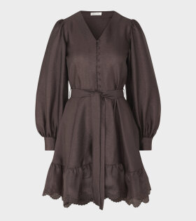 Stine Goya Farrow Dress Mocha Brown - dr. Adams