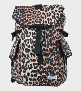 Ganni Backpack Leopard Brown - dr. Adams