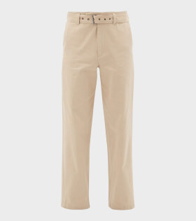 Belted Chino Trousers Beige