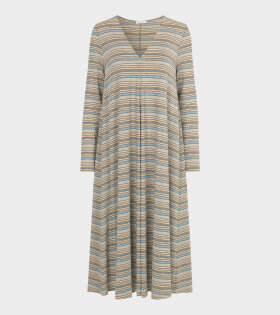 Stine Goya Lauren Dress Stripes Blue - dr. Adams