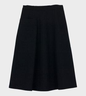 Marimekko Louhi Solid Skirt Black - dr. Adams