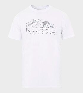 Niels Mountains T-shirt White