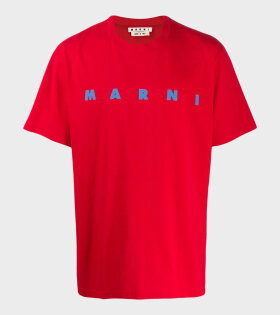 Logo T-shirt Red/Blue
