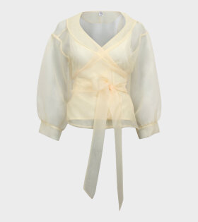 Milou Wrap Shirt Pastel Yellow