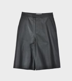 Manu Shorts Leather Black