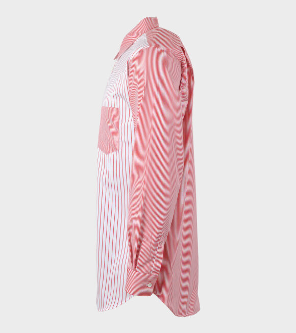 Comme des Garcons Shirt - Striped Shirt Red/White