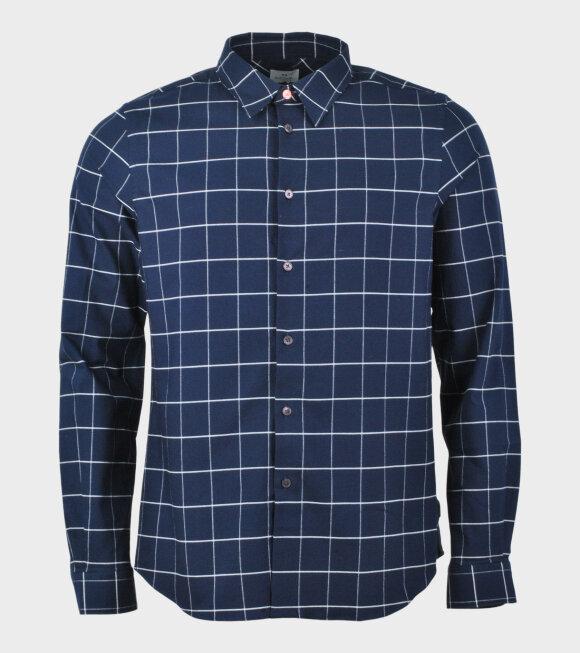 Striped Check Shirt Blue