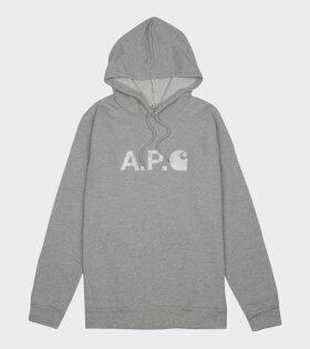 A.P.C X CARHARTT WIP STASH H COECO Sweatshirt Grey - dr. Adams