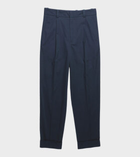 Acne Cropped trousers Navy Blue - dr. Adams