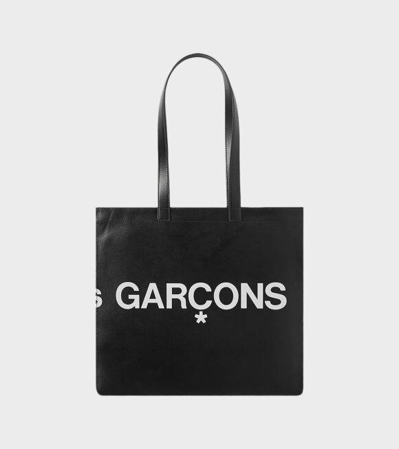 Comme des Garcons Wallet - Huge Logo Black Wallet