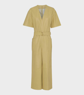 Remain Dalmine Leather Jumpsuit Yellow - dr. Adams