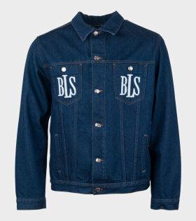 BLS Classic Logo Denim Jacket Blue - dr. Adams