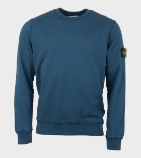 Stone Island Longsleeve Logo T-shirt Blue - dr. Adams