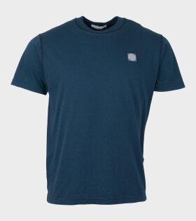 Stone Island Logo T-shirt Blue - dr. Adams