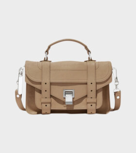 Proenza Schouler PS1 Tiny Lux Leather Beige - dr. Adams