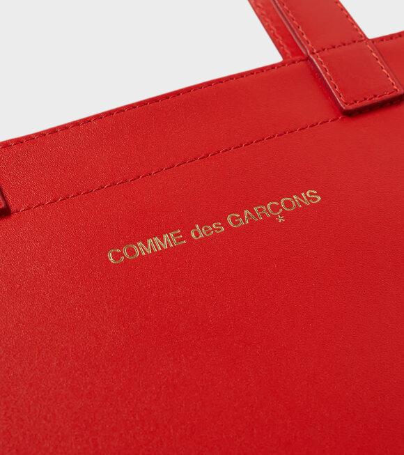 Comme des Garcons Wallet - Huge Logo Red Wallet