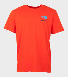 The North Face SS XTREME TEE FIERY T-shirt Red - dr. Adams