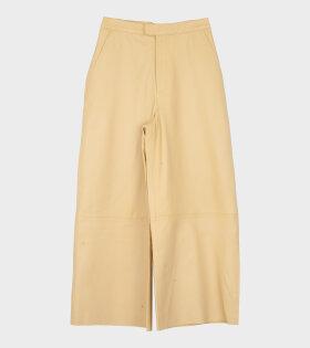 Remain Mamu Leather Pants Yellow - dr. Adams