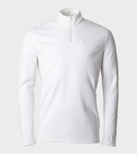 Acne Ellington Tech Logo Sweatshirt White - dr. Adams