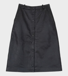 Remain Bellis Leather Skirt Black - dr. Adams