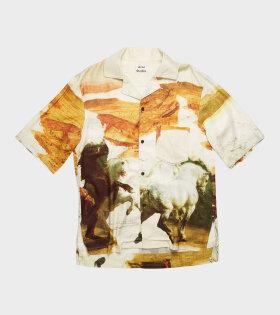 Acne Simon Fluid Horse Shirt Multicolor - dr. Adams