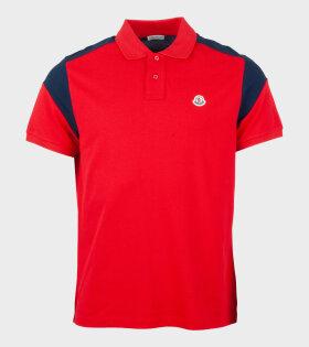 Moncler Maglia Monica Corta Polo Shirt Red - dr. Adams