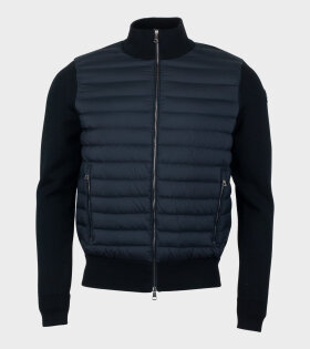 Moncler Cardigan Tricot Jacket Black - dr. Adams